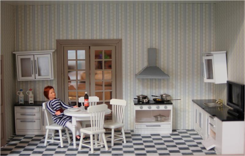 Camere complete la casa delle bambole for Cucina moderna giornale